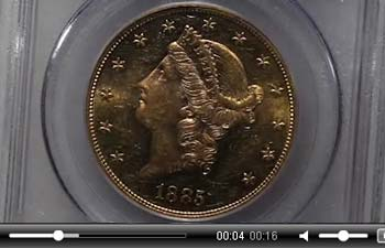 1885 $20 MS61 PCGS. CAC