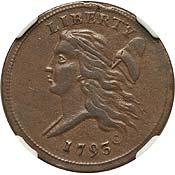 1793 1/2 C AU53 NGC